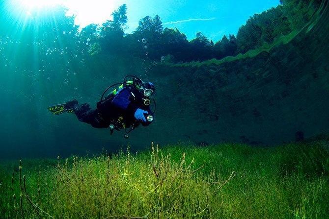 Необычное зеленое озеро  В Австрии есть удивительное место - Grüner See (Зелёное озеро).