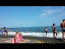 Крым.Алушта.Пляж ,, Жемчужина''.27 июля 2017 г.обзор
