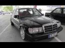 Mercedes-Benz 190E W201 black with 19 BBS polished   BodyLowTion   TurboDay 3.0