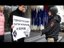 Н Бондаренко и боец Росгвардии на пикете 25 03 2017