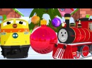 Новогодний мультик про машинки: паровозик Шонни и Генри наряжают елку. Развиваю