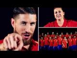 Sergio Ramos Ft Niña Pastori La Roja Baila Himno Oficial De La Seleccion Española UEFA EURO 2016