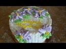 Украшение тортов в домашних условиях Оформление тортов кремом Украшение тортов