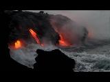 Kilauea Volcano Lava Hits the Ocean 12-11-09
