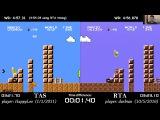 Super Mario Bros. TAS vs. RTA World Record (4:56.878 by darbian)