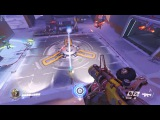 Tennis 2 vs 2 GENJI Player and Judge JUNKRAT  Funny Game  Overwatch Moment