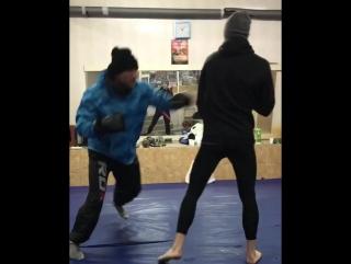 Тренировка экс-чемпиона М-1 Александра Бутенко