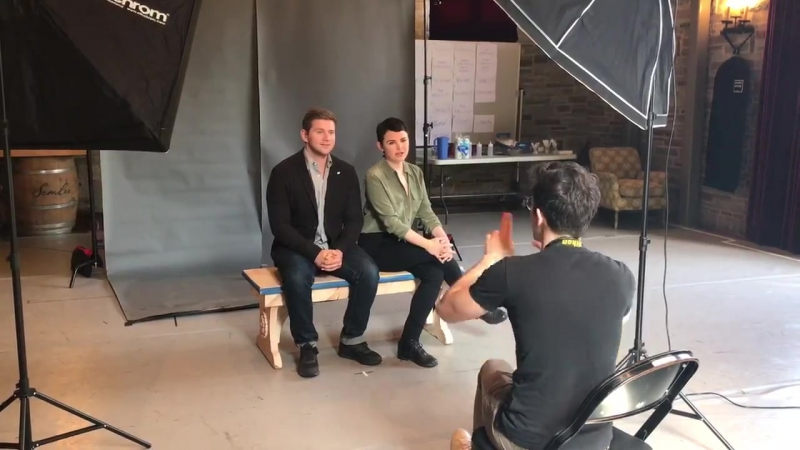 Ginnifer Goodwin and Allen Leech - Behind the scenes video at the photoshoot for Constellations.