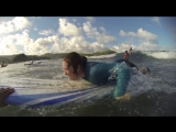 Paddle, paddle, paddle, Stand Up! Surfing lesson in Puraran school