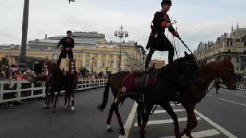 Кремлевская школа верховой езды на площадке перед Большим театром