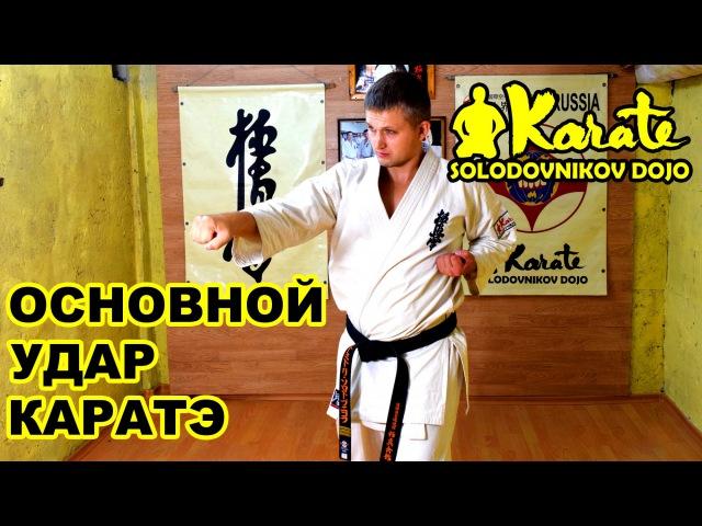 Основной удар в каратэ сейкен чудан цуки | Киокушинкай | Seiken tsuki | Единоборства | Kyokushinkai