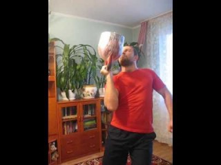 Жим гири вверх дном 41кг(Bottoms Up Kettlebell Press 41kg)