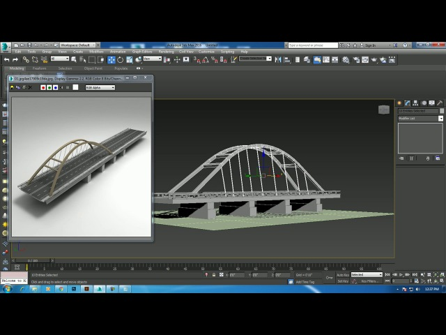 Tutorial on Modeling a Bridge in 3dsmax.