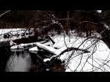 Речка Люлих,готовимся к переправе снегохода