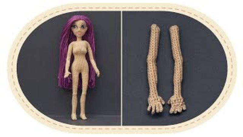 Кукла крючком Виолетта , часть 1 (Руки). Crochet doll Violetta, part 1 (Hands)