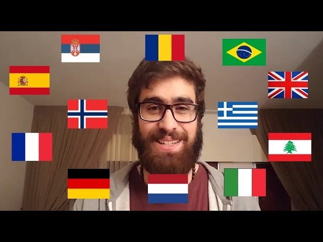 Polyglot speaking in 12 languages [SUBTITLES]