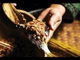 Сушёная рыба со кисло-сладкими клейкими рисами