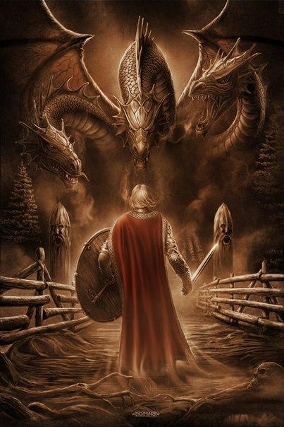Калинов мост соединяет два мира — мир живых(явь) и мир мертвых(навь)