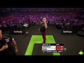 Gary Anderson vs James Wade (2017 Premier League Darts / Week 4)