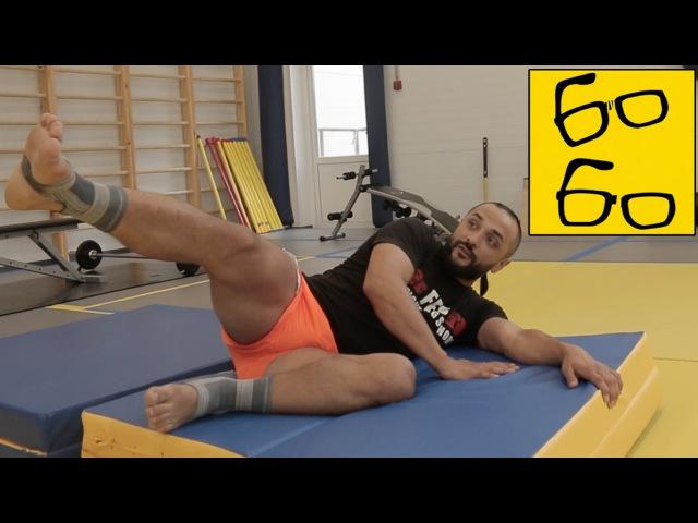 Удары ногами в падении сравнение техник киокушинкай и тхэквондо от Анвара Абдуллаева