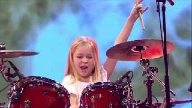 10 летняя барабанщица выиграла шоу талантов в Дании 2017/Классно бацает/ » Freewka.com - Смотреть онлайн в хорощем качестве