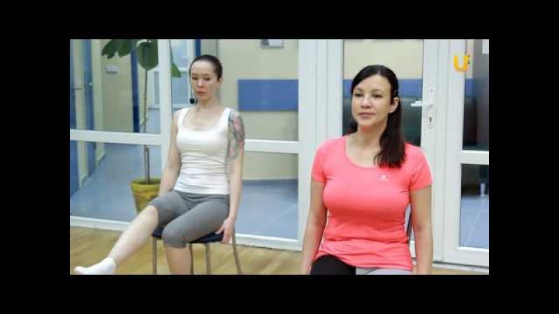Заряд бодрости. Выпуск №39. Дыхательная гимнастика Оксисайз, комплекс №2 с использованием стула