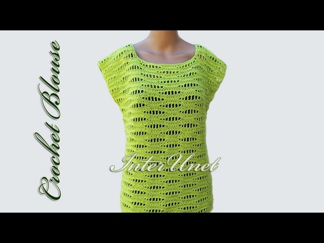 Crochet blouse – sleeveless pullover top crochet pattern