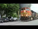BNSF Street running train in Warsaw IN