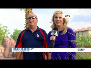 Backyard BBQ & Jumping in a Pool on Live TV