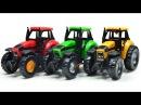 Тракторы для детей. Гонки на тракторах. Смотреть мультфильм про трактор. Строите