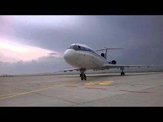 Tu-154M enigne start-up @ Burgas airport 2014