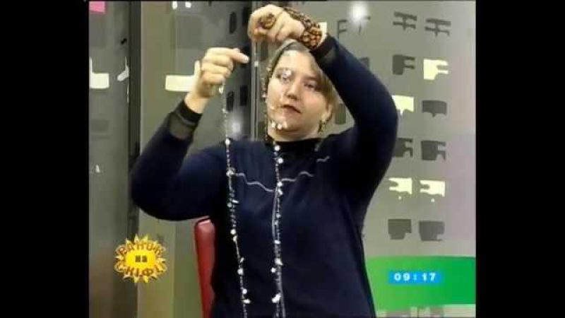 Ранкова студія телеканалу Скіфія Олена Гусаченко - повітряне кольє з бісера
