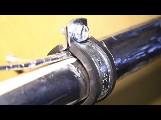 Как проложить греющий кабель на трубу