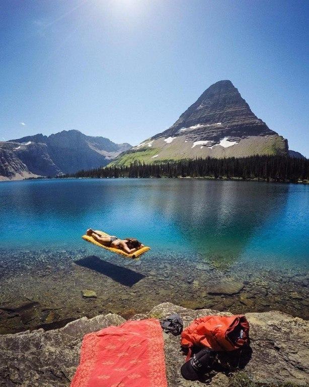 Местечко под названием Хидден Лейк, Монтана, США.