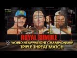 (WWEWM) Брок Леснар пр. Джон Сина пр. Сет Роллинс (25.01.2015, Royal Rumble)