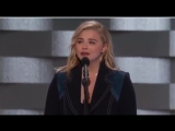 Chloe Grace Moretz speaking at the Democratic National Convention July 28, 2016
