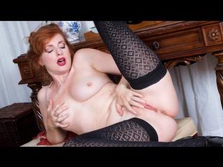 Amber dawn - sexy mature [solo, masturbation, dildo, lingerie, stockings, ginger hair]