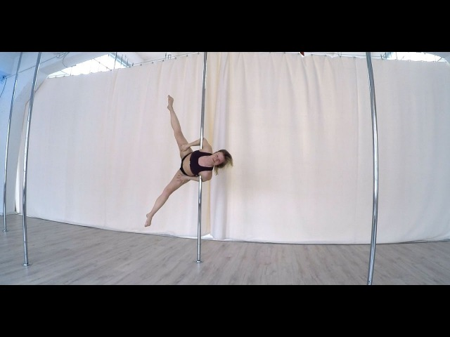 How To Pole Dance 4 BATWING Tutorial Intermediate/Advanced