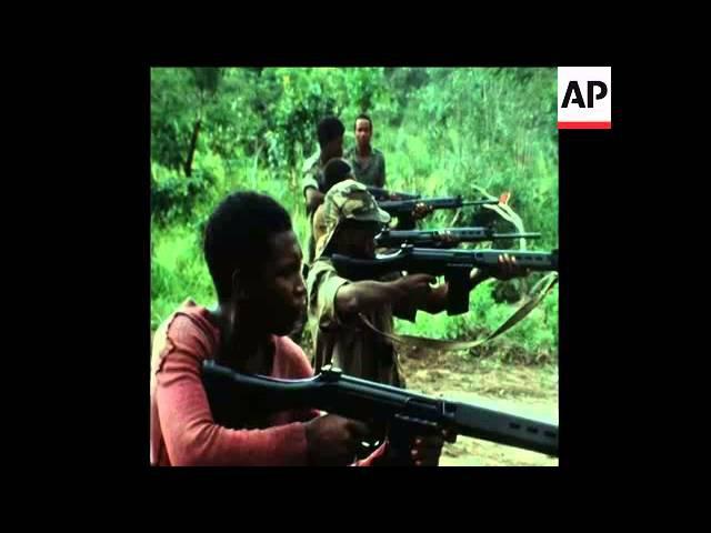 SYND 24 1 76 UNITA TROOPS TRAINING AT A CAMP NEAR SILVA PORTO IN ANGOLA