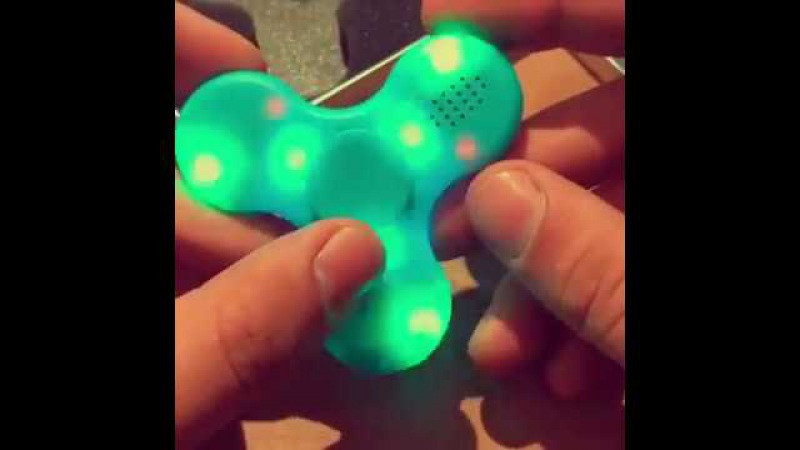 Led fidget spinner bluetooth finger toy -stress reliever