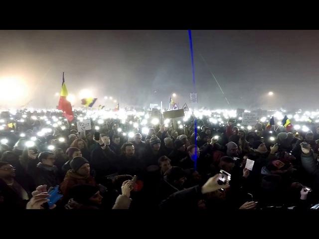 La Cluj s-a cantat Desteapta-te Romane! 5 Februarie 2017