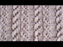 Японский ажурный узор Вязание спицами Видеоурок 94