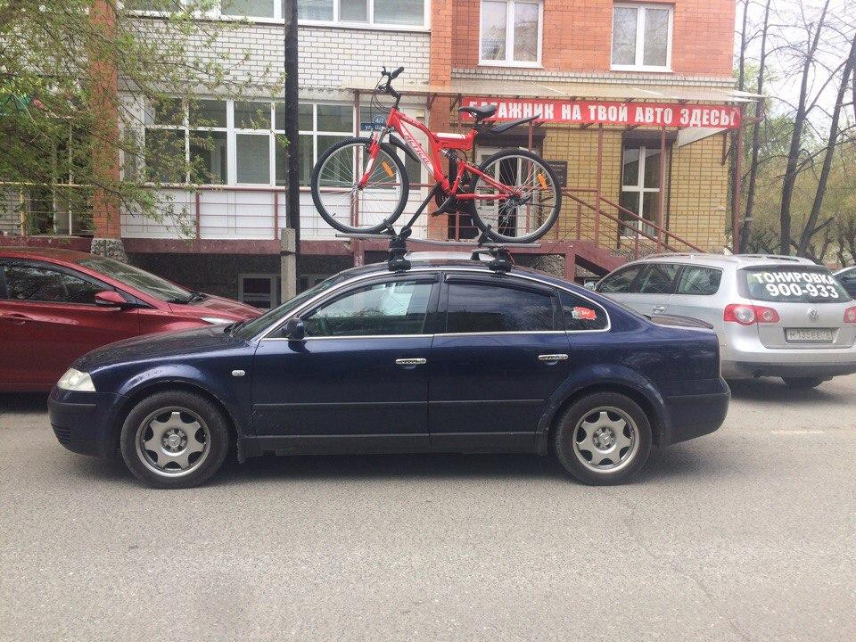 Велокрепления багажники на крышу автомобиля