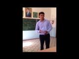 Поздравление для преподавателей от Агаджана из солнечной Туркмении