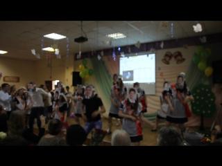Выпуск 2017.Капустник.Зажигательный танец в масках учителей.