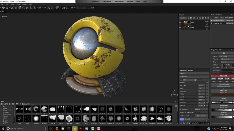 Daz Studio and Substance Painter 4