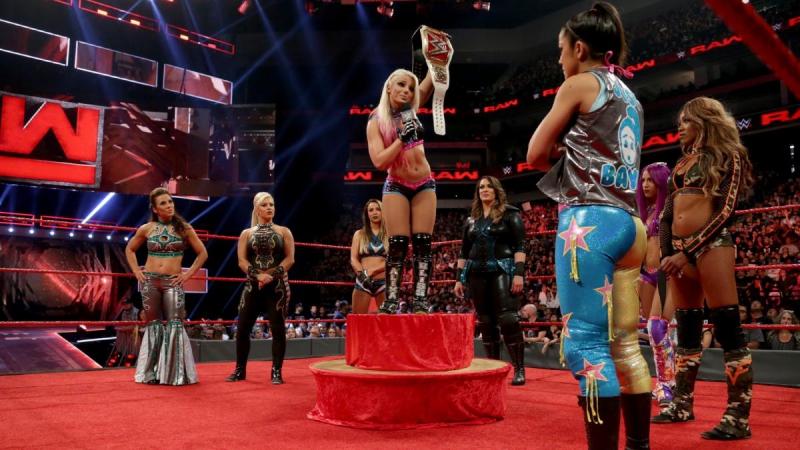 Bayley, Sasha Banks, Mickie James Dana Brooke vs. Alexa Bliss, Nia Jax, Emma Alicia Fox