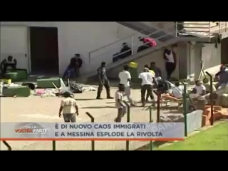 Asylanten nehmen Hotel auseinander