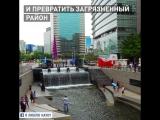 Дорога, которая стала рекой... Прекрасная история из Сеула! Больше бы таких :)