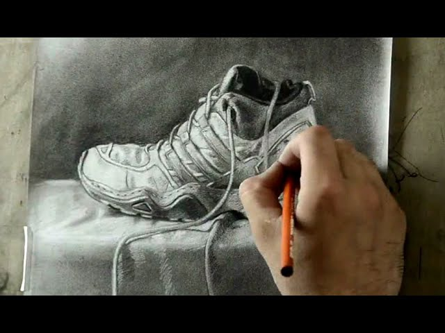 Still life with charcoal Demonstration by Artist Jaspreet Singh - Time Lap Video with Nikon D7000